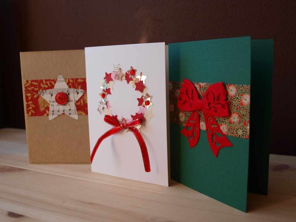 DIY-Holiday-cards-with-ribbons